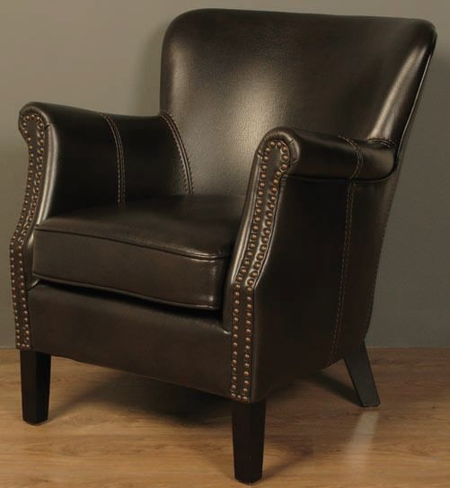 Harlow Brown Leather Armchair