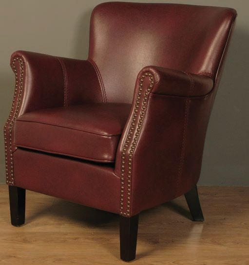 Harlow Burgundy Leather Armchair