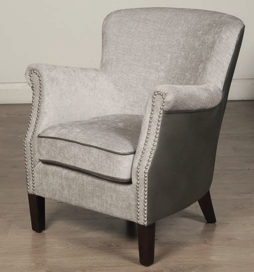 Harlow Grey Fusion Fabric Armchair
