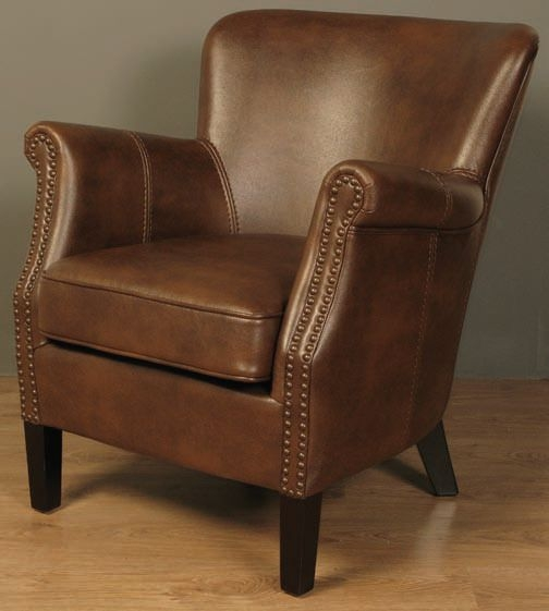 Harlow Tan Leather Armchair