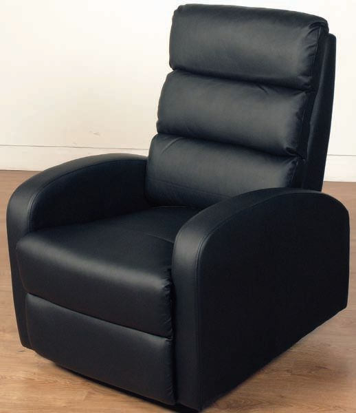 Livorno Black Faux Leather Recliner Chair