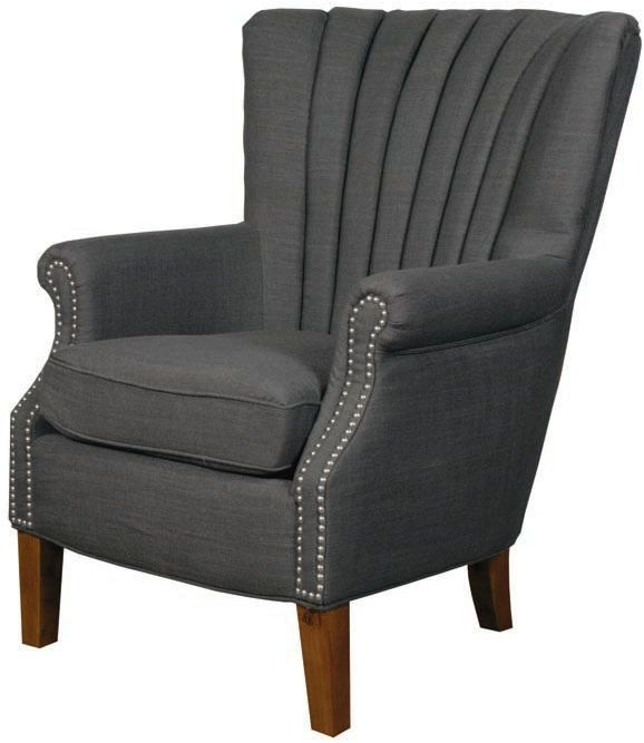 Stratford Charcoal Fabric Armchair