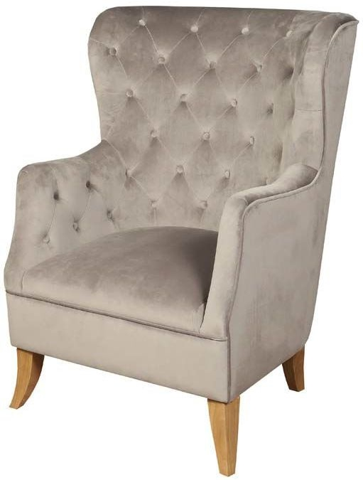York Grey Velvet Armchair