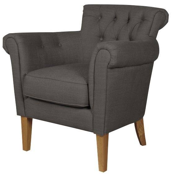 Finchley Charcoal Armchair
