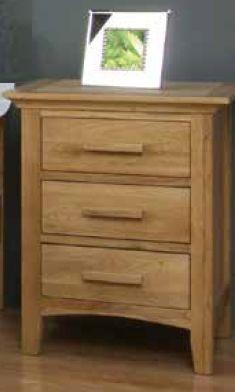 Clare 3 Drawer Bedside Cabinet