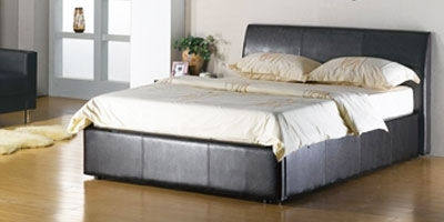 Corsica Black Storage Bed