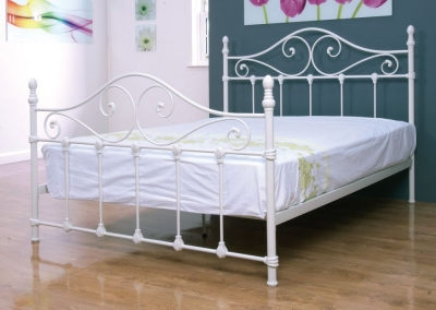 Cotswold Ivory Painted Metal Bed