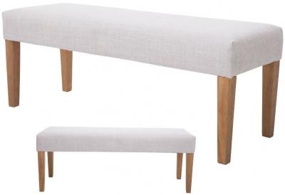 Zara Beige Fabric Bench