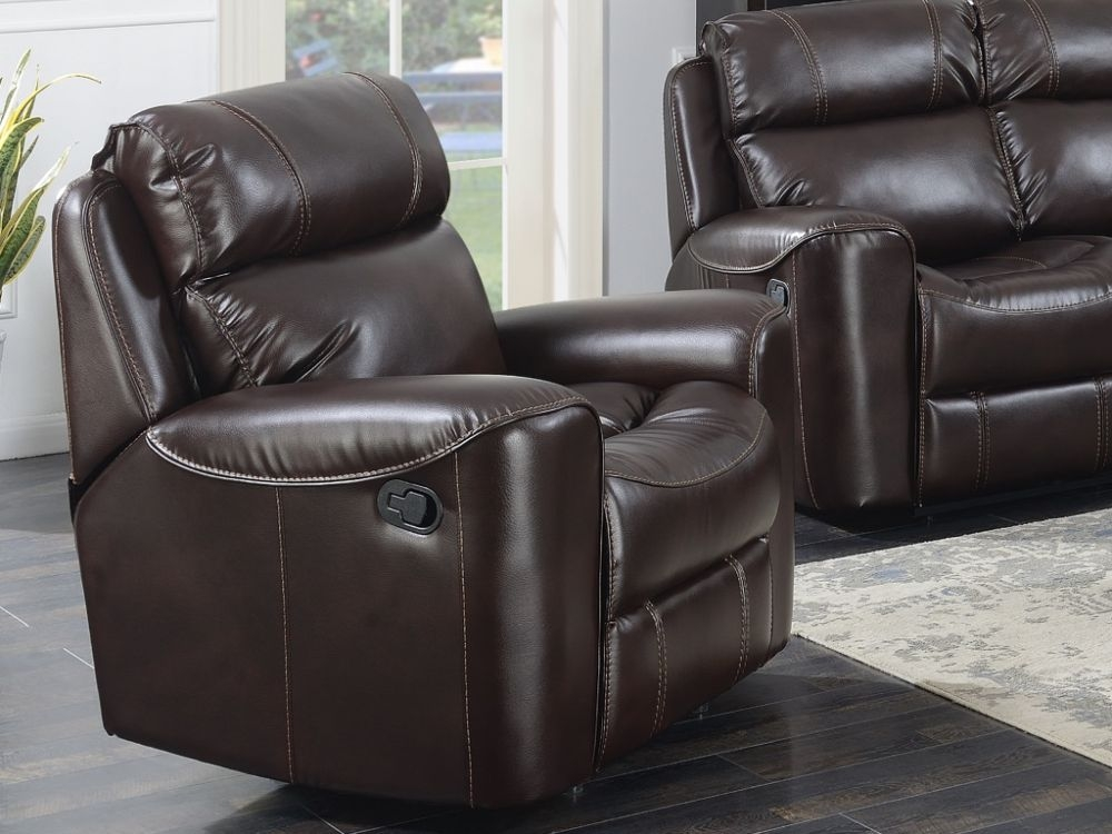 Brookland Chestnut Leather Recliner Armchair