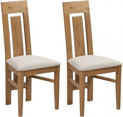 Capri Oak Dining Chair (Pair)
