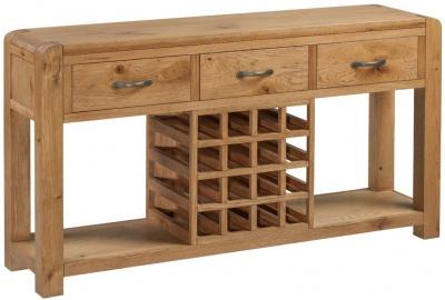 Capri Oak Sideboard with Wine Rack