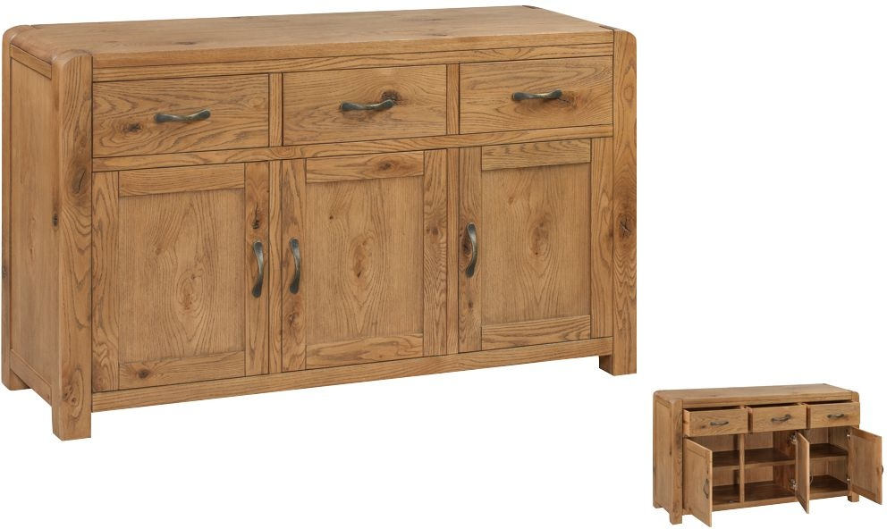 Capri Oak Large Sideboard