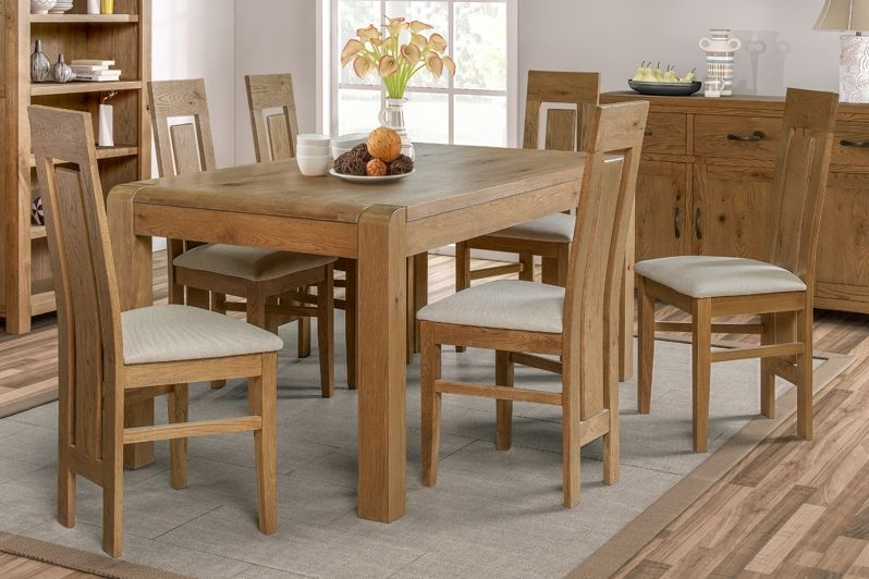 Capri Oak Dining Table and 6 Chairs