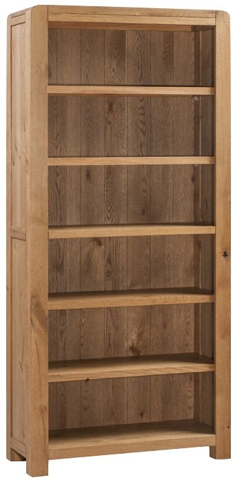 Capri Oak Tall Wide Bookcase