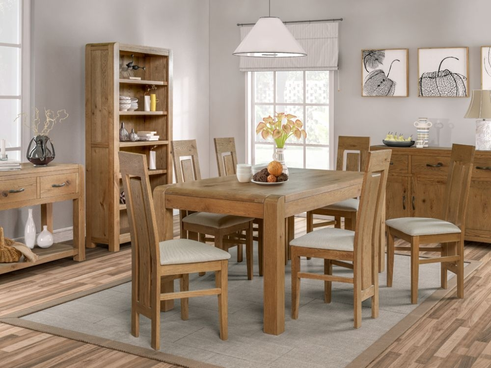 Capri Oak Large Dining Table and 6 Chairs