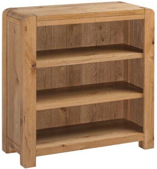 Capri Oak Low Bookcase