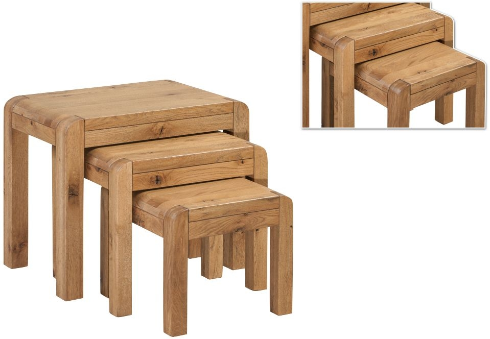 Capri Oak Nest of Tables