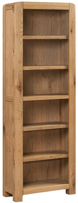 Capri Oak Tall Narrow Bookcase