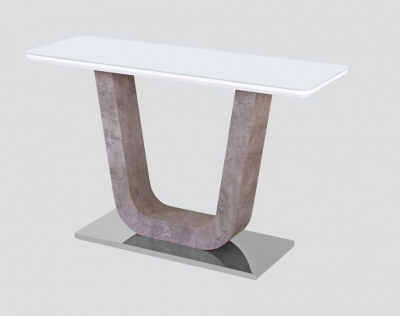 Castello Console Table - White High Gloss and Natural