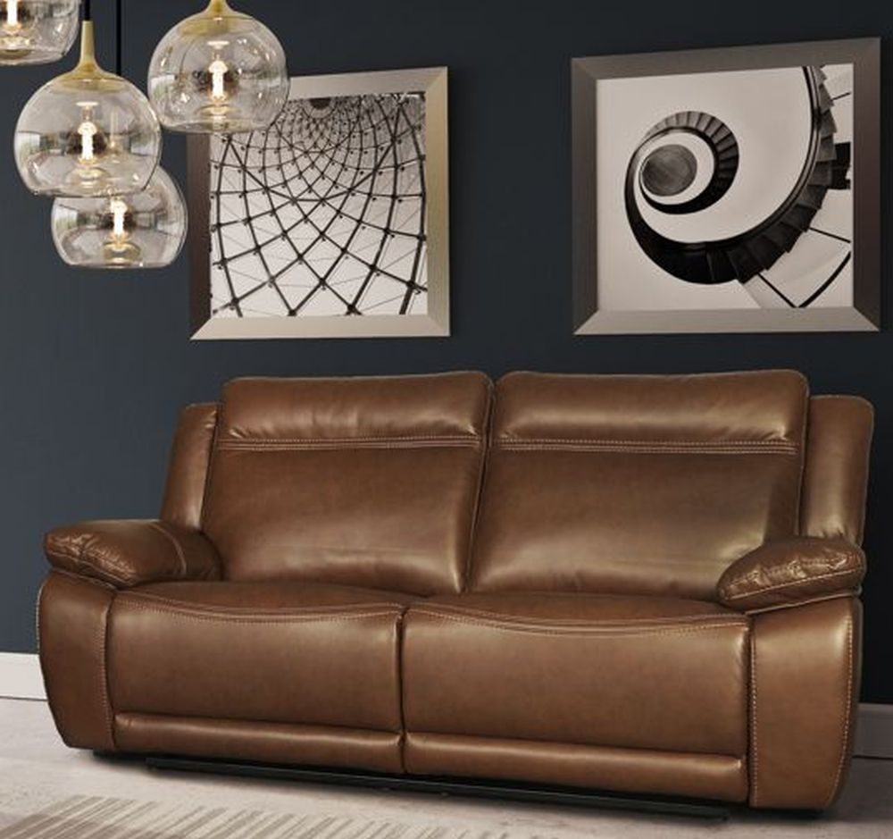 Cheshire Tan Leather 3 Seater Recliner Sofa