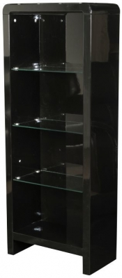 Clarus Black Bookcase