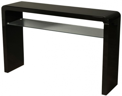 Clarus Black Large Console Table