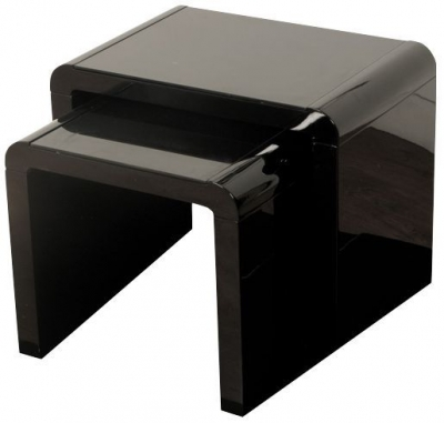 Clarus Black Nest of Tables