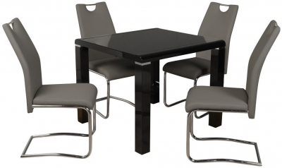 Clarus Black Square Dining Table