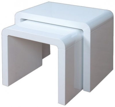 Clarus White Nest of Tables