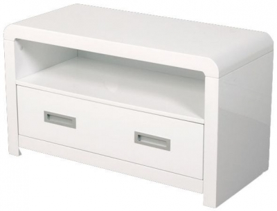 Clarus White TV and DVD Unit