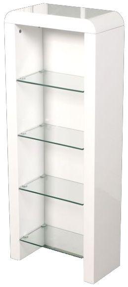 Clarus White DVD Storage Unit