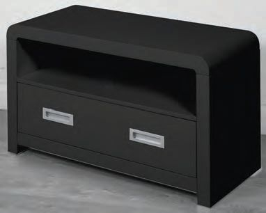 Clarus Black TV and DVD Unit