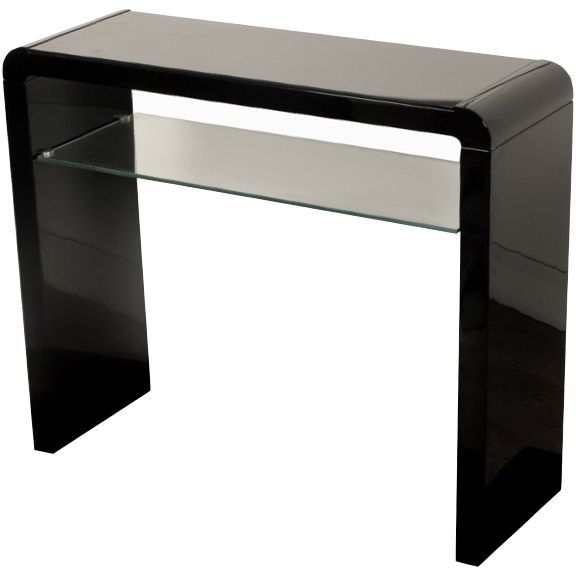 Clarus Black Console Table