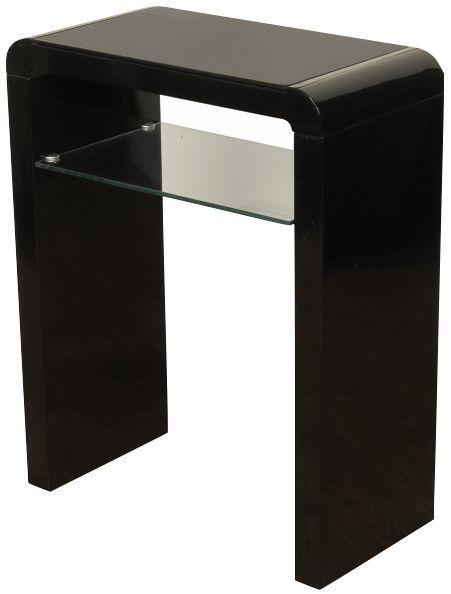 Clarus Black Small Console Table