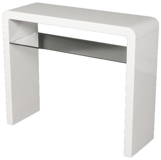 Clarus White Console Table