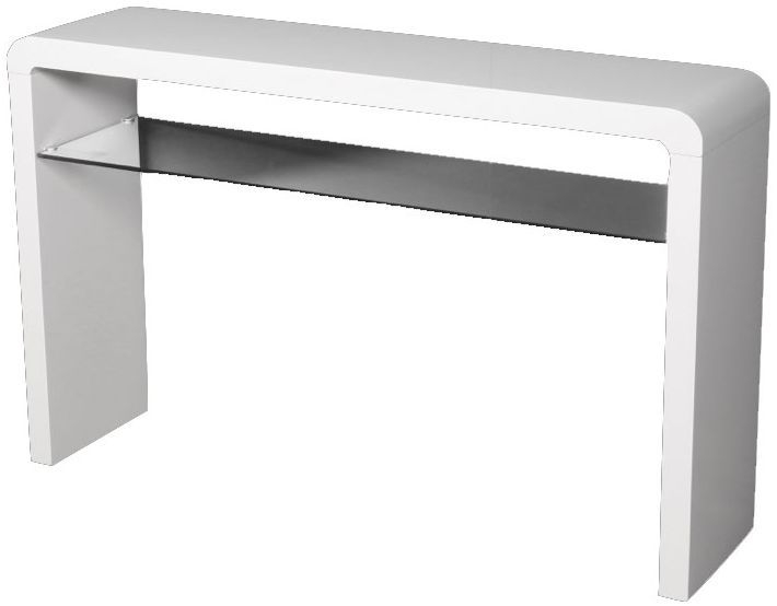 Clarus White Large Console Table