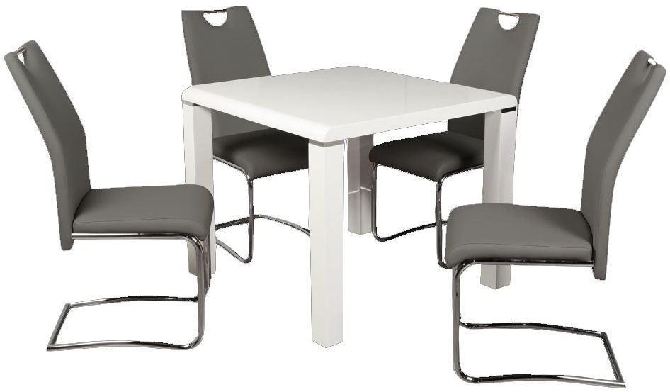 Clarus White Square Dining Table