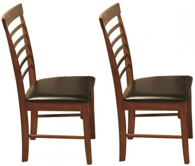 Clearance - Hanover Dark Oak Dining Chair (Pair) - New - E-69