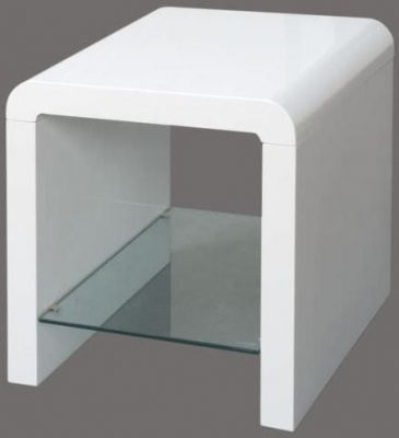 Clearance Atlantis White Clarus End Table - G116