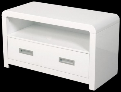 Clearance Atlantis White Clarus TV and DVD Unit - G119