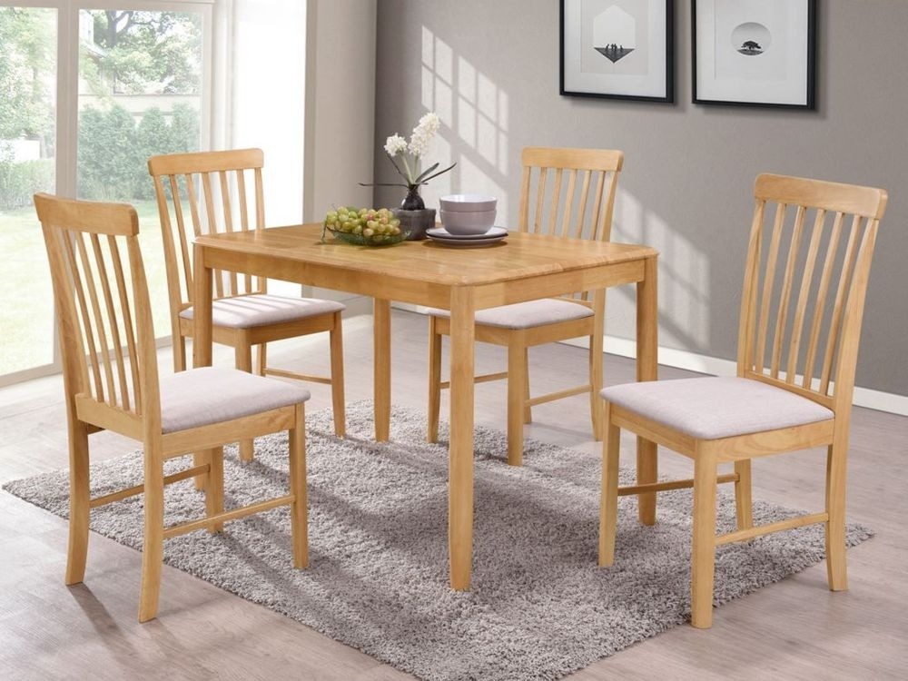 Pleasing Cologne Light Oak Dining Table And 4 Chairs Cfs Furniture Uk Complete Home Design Collection Lindsey Bellcom