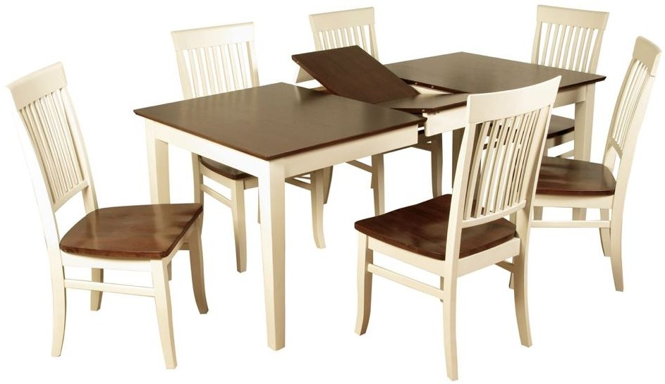 Dalton Painted Dining Set - Extending with 6 Chairs