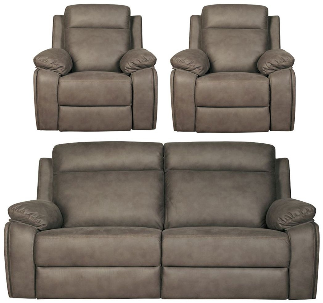 Darwen Grey 3+1+1 Fabric Sofa Suite