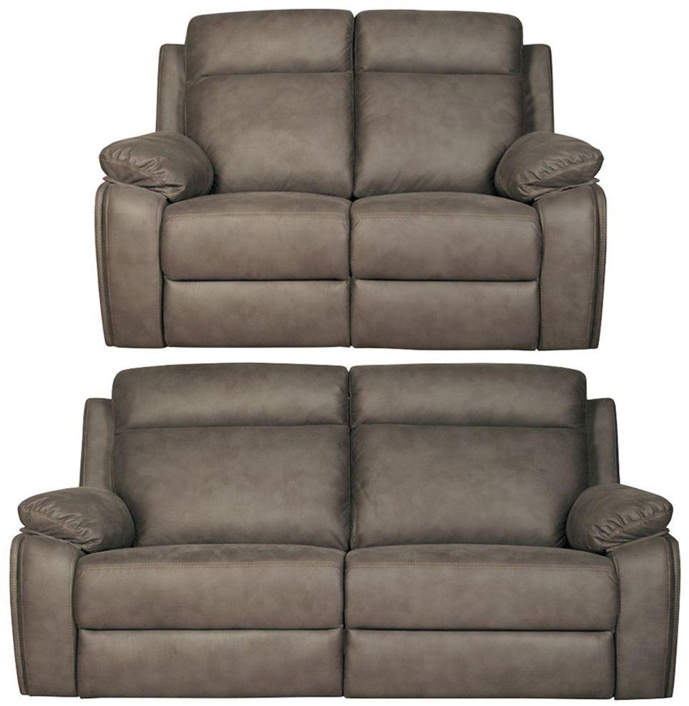 Darwen Grey 3+2 Fabric Sofa Suite