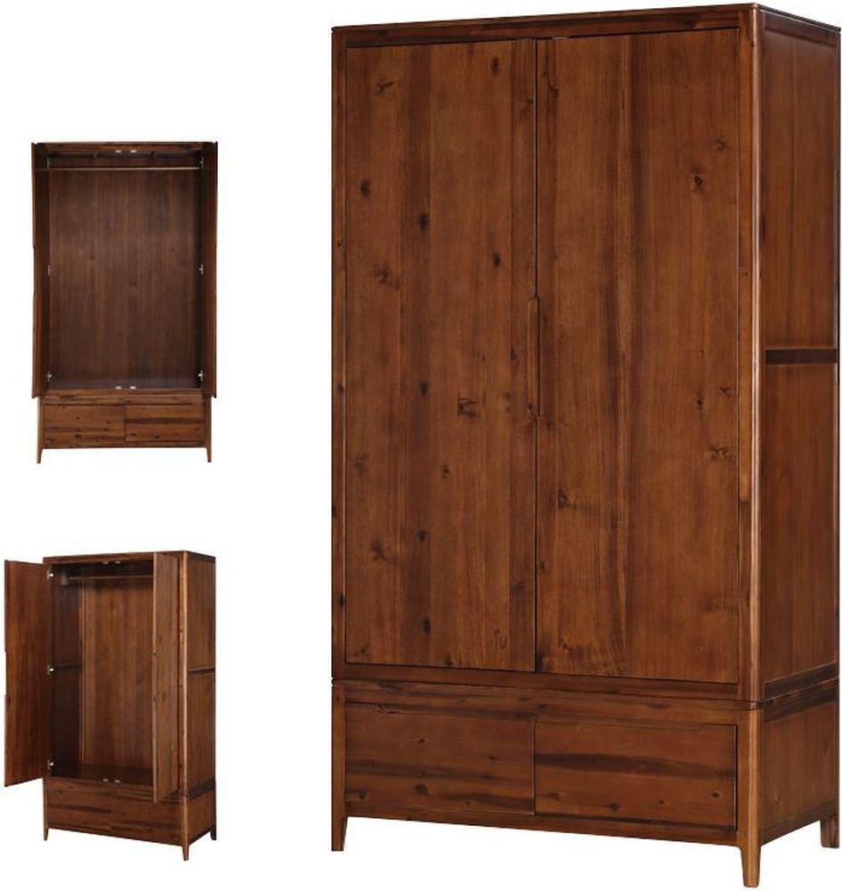 Dunmore Acacia 2 Door Wardrobe