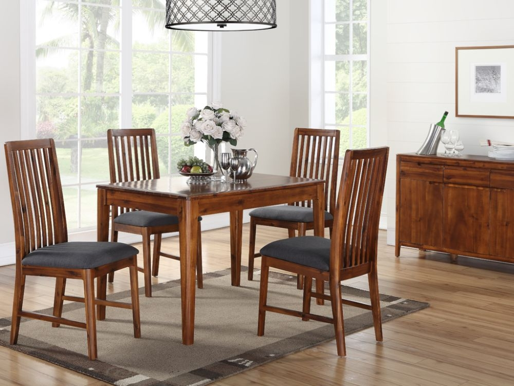 Dunmore Acacia Dining Table and 4 Chairs