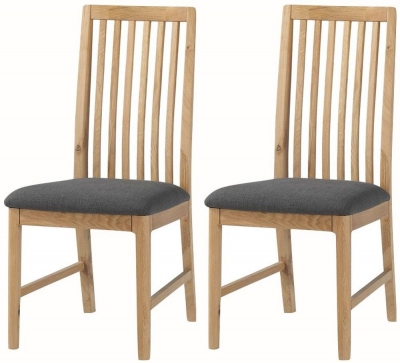 Dunmore Oak Dining Chair (Pair)