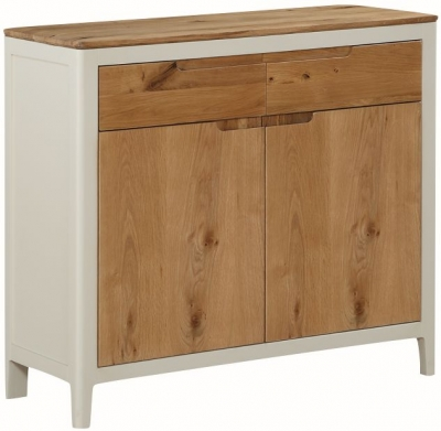 Dunmore Oak and White Painted 2 Door Sideboard