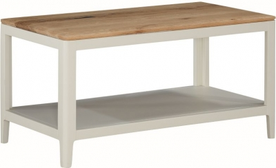 Dunmore Oak and White Painted Coffee Table