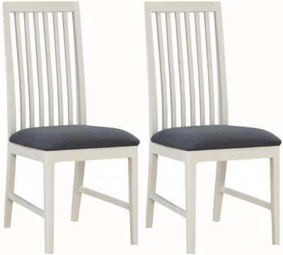Dunmore White Painted Dining Chair (Pair)